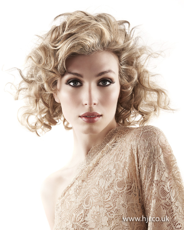 2012 blonde curls midlength womens hairstyle
