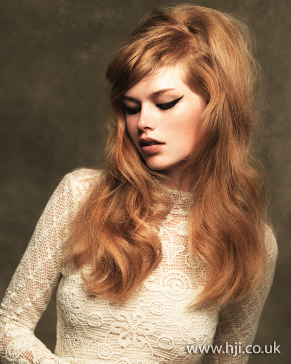 2012 blonde long sixties style hair