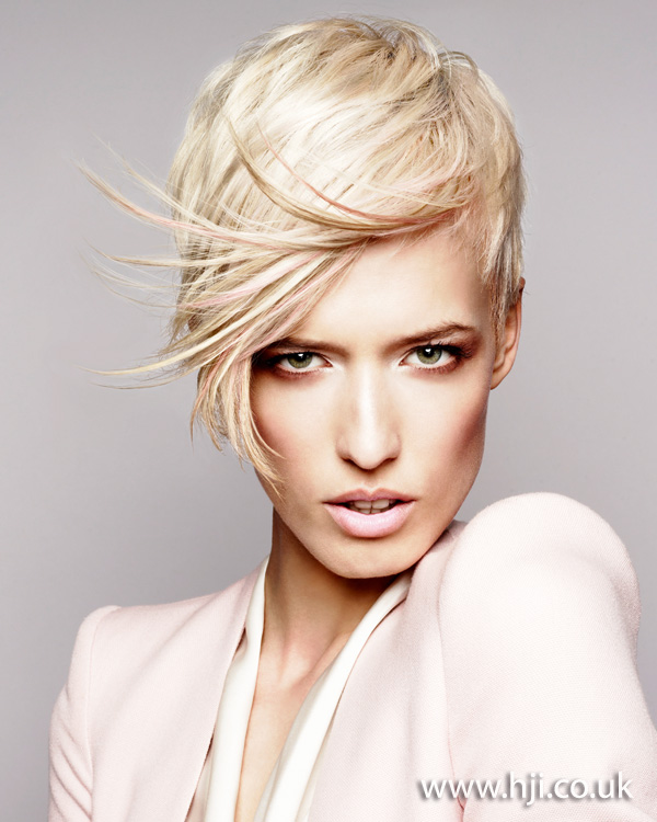 2012 blonde pastel pink short womens hairstyle