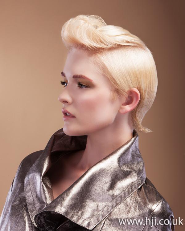 2012 blonde quiff womens hairstyle