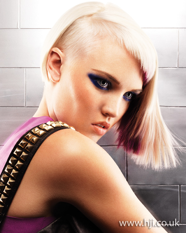 2012 blonde shaved side bob hairstyle