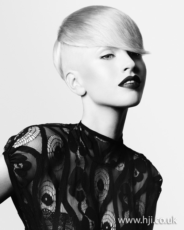 2012 blonde shaved side womens hairstyle