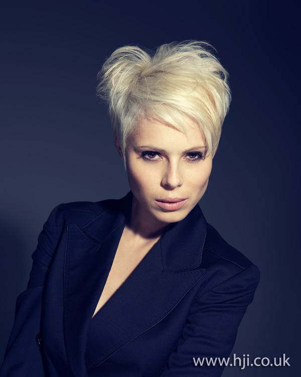 2012 blonde short volumised womens hairstyle