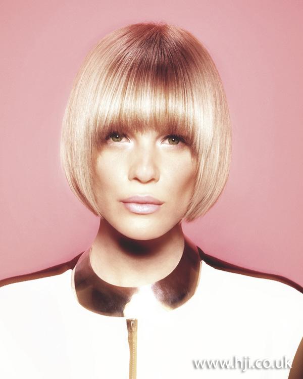 2012 blonde smooth bob fringe