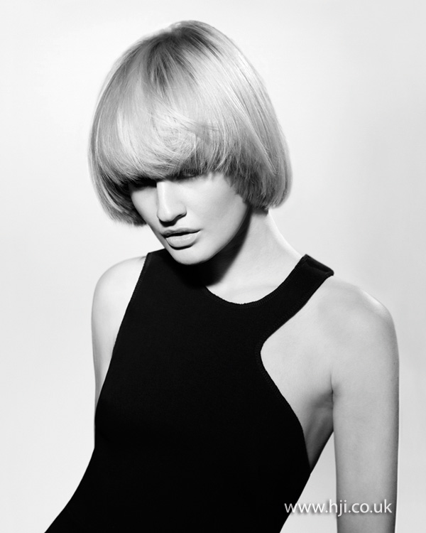 2012 blonde smooth bob womens hairstyle