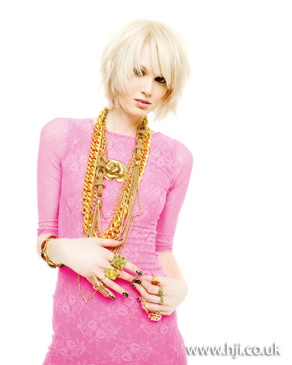 2012 blonde textured bob womens hairstyle