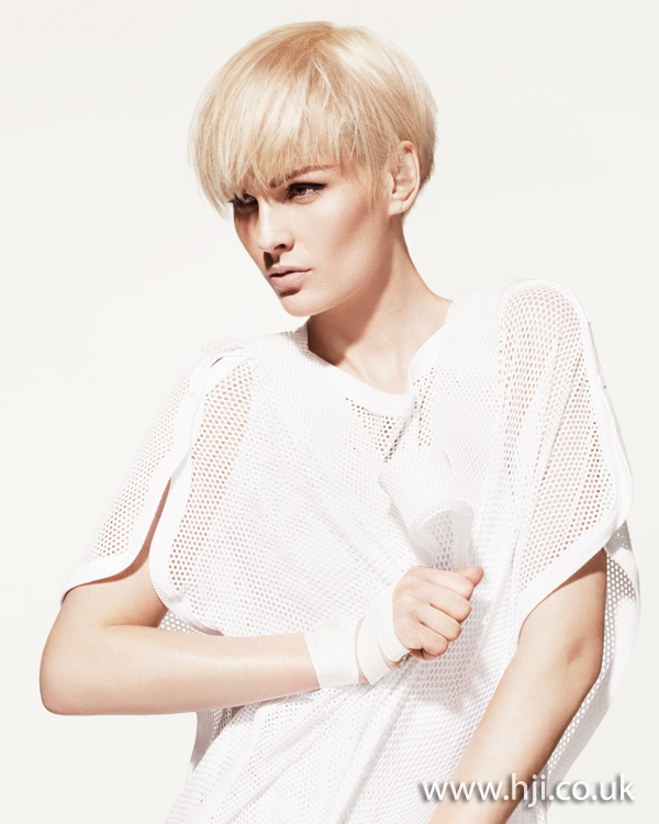 2012 blonde tousled womens short hairstyle