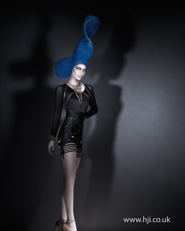 2012 blue avant garde womens hair