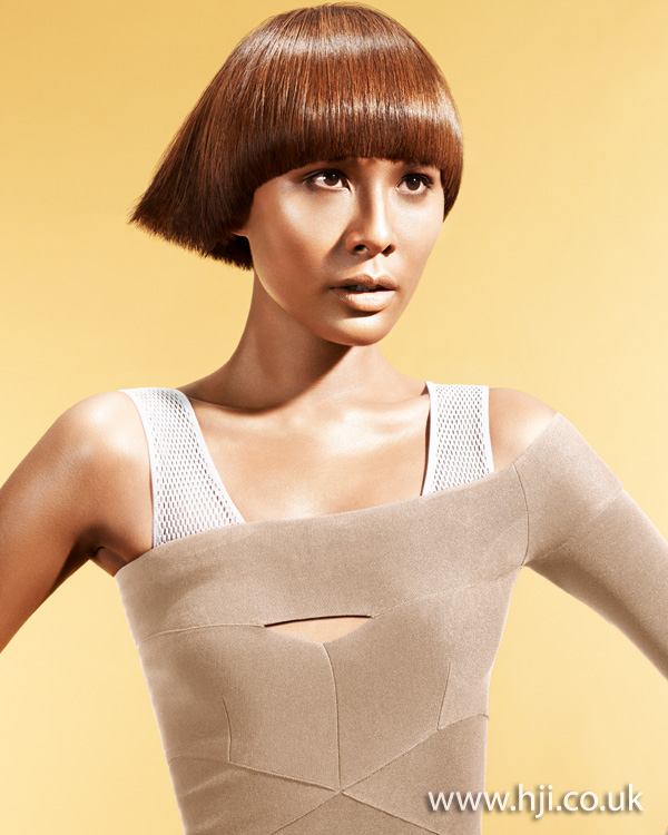 2012 blunt ends copper bob hairstyle