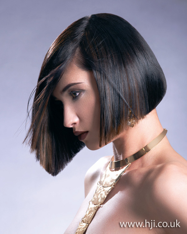 2012 bob black and copper hairstyle