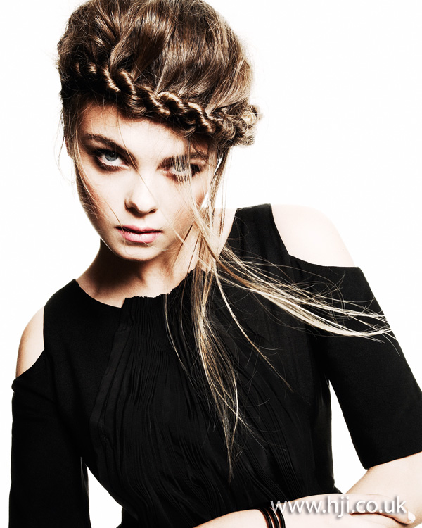 2012 braided front womens updo hairstyle