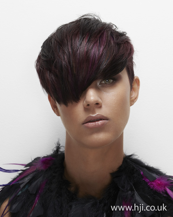 2012 brunette and red womens hairstyle