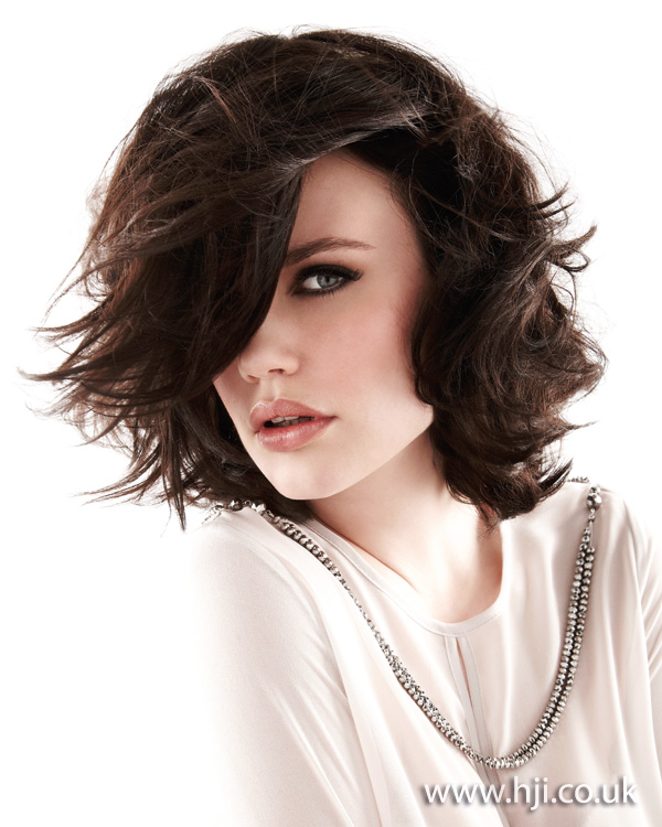 2012 brunette choppy womens hairstyle