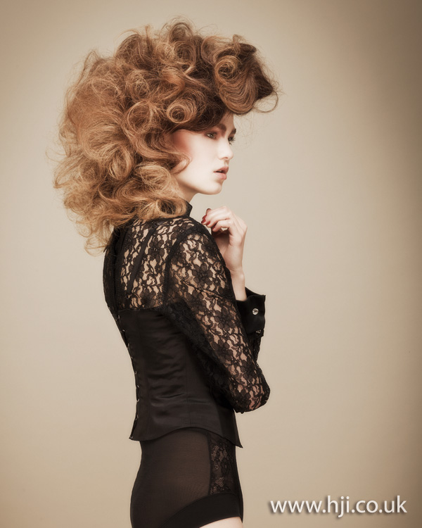 2012 brunette curly updo volume womens hairstyle