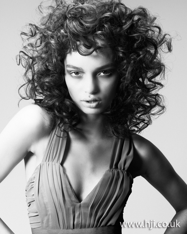 2012 brunette curly womens hairstyle