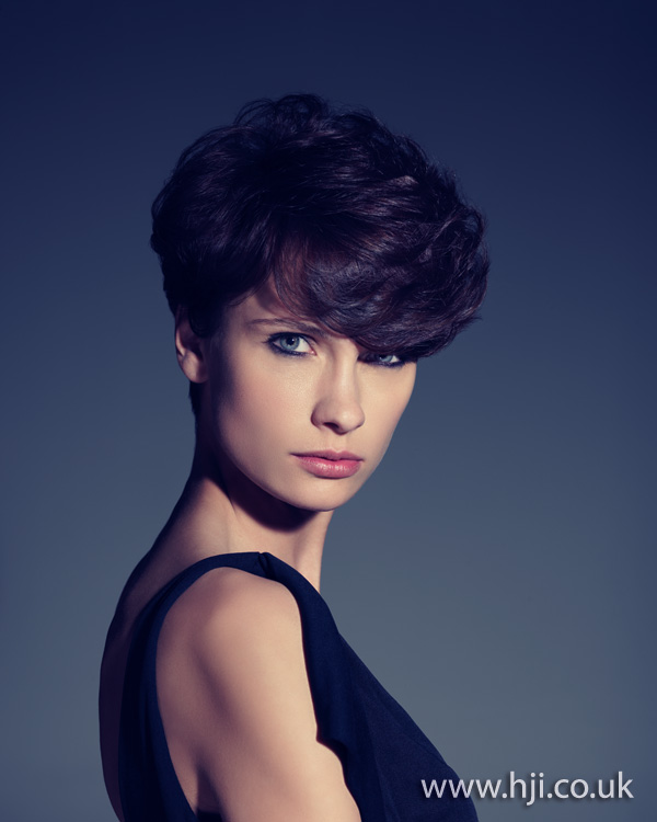 2012 brunette short volumised womens hairstyle