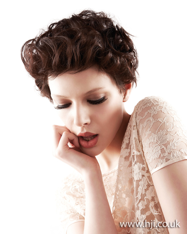 2012 brunette textured womens hairstyle