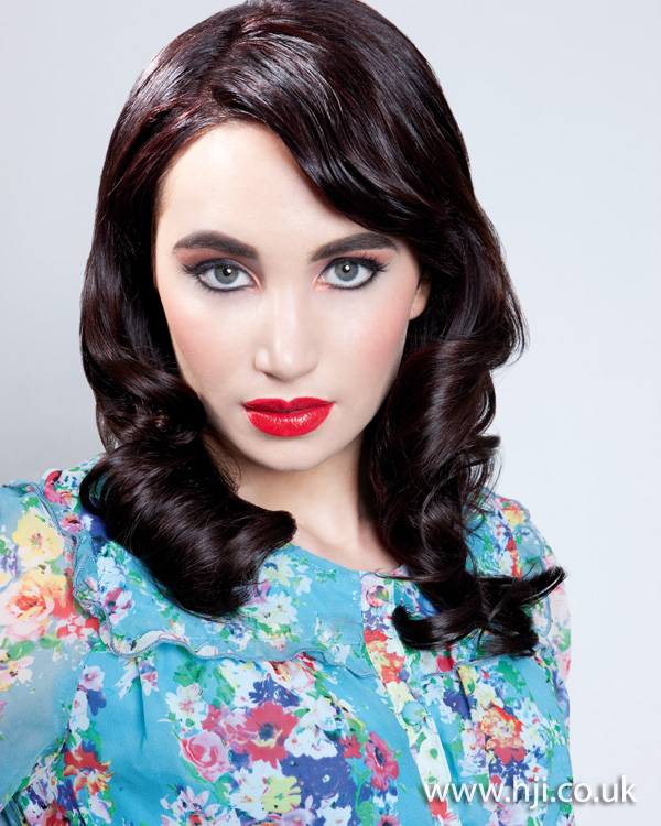 2012 classic curls womens brunette hairstyle