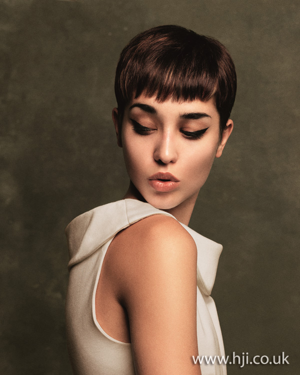 2012 cropped brunette womens hairstyle