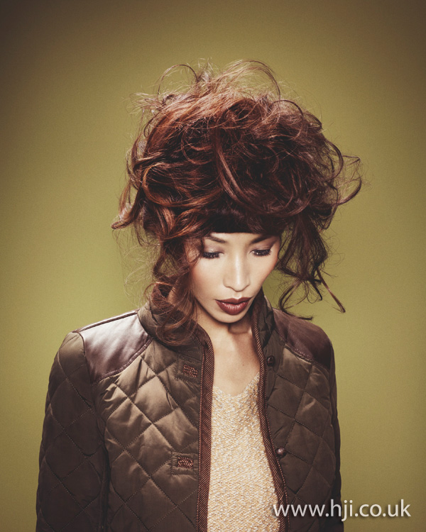 2012 curly volume updo womens hairstyle