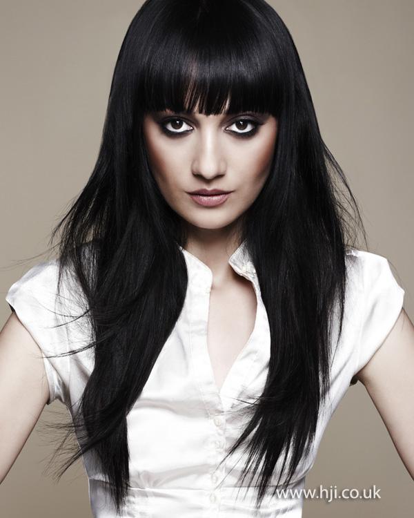 2012 dark brunette long straight womens hairstyle