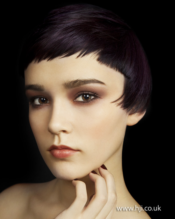2012 deep purple cropped womens hairstyle