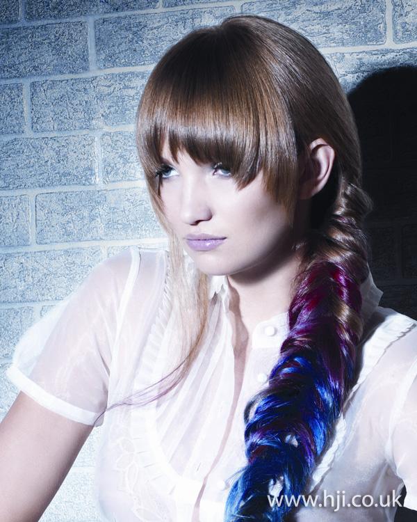 2012 dip dye plaited womens hairstyle