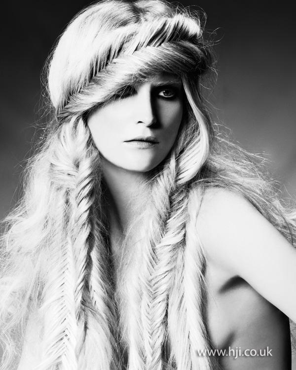 2012 fishtail plaits long hair