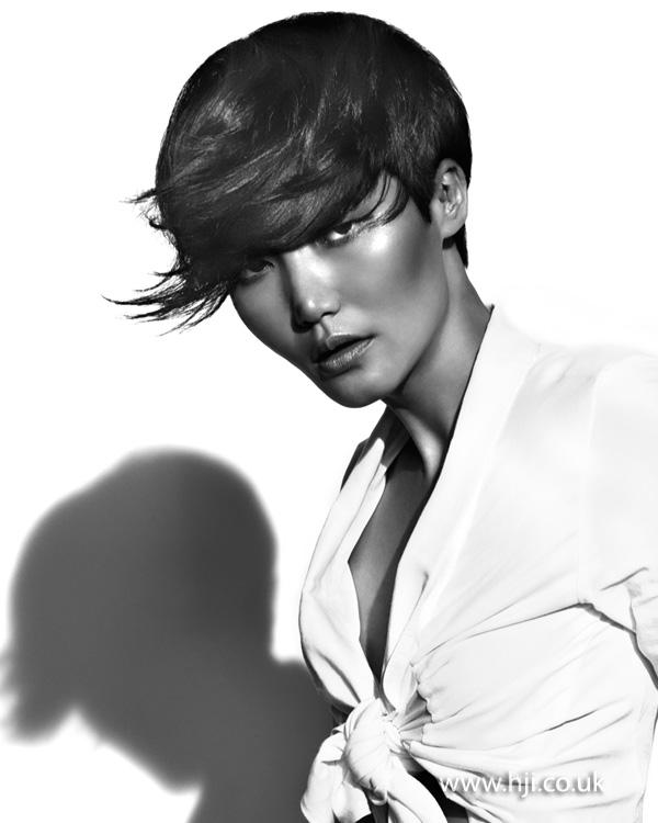 2012 flicked side fringe womens hair