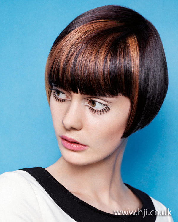 2012 highlighted fringe womens hairstyle
