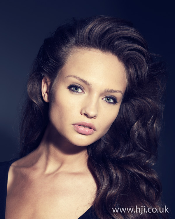 2012 long brunette waves womens hairstyle