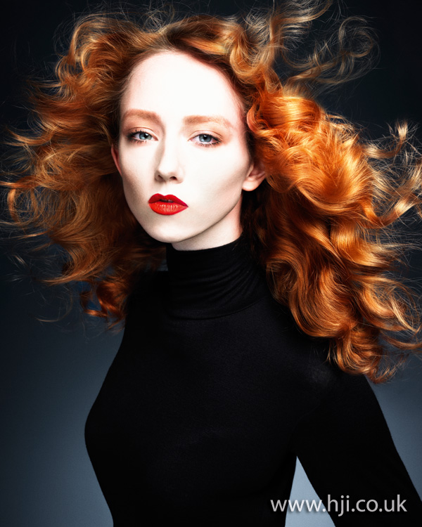 2012 long red curls womens hairstyle