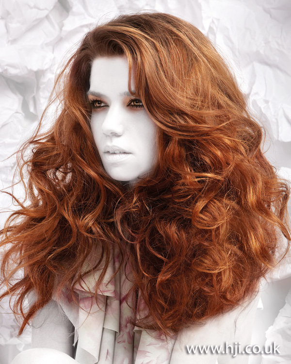 2012 long red womens hairstyle