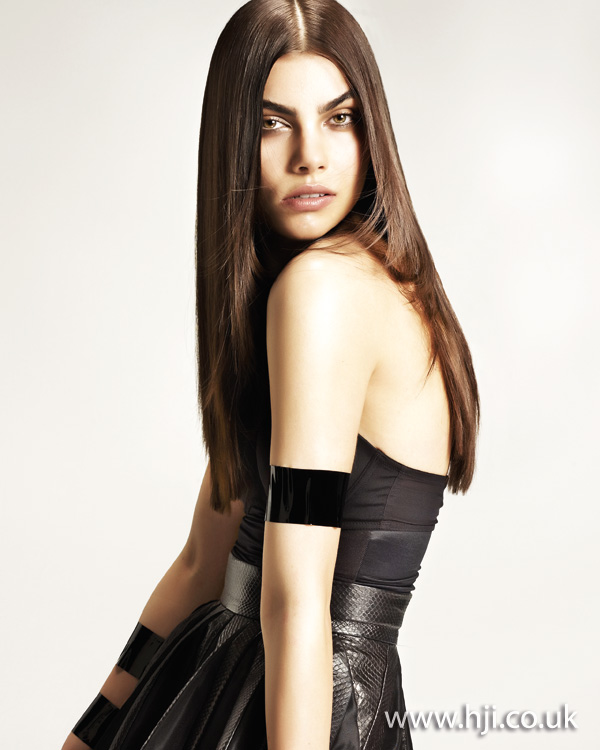 2012 long straight brunette womens hairstyle
