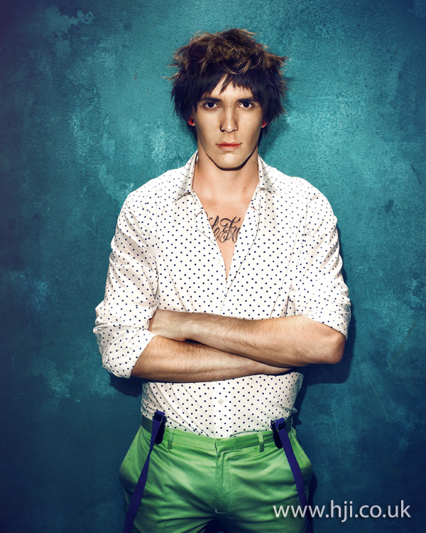 2012 mens brunette textured hairstyle