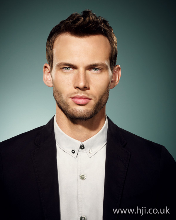 2012 mens short cropped brunette hairstyle