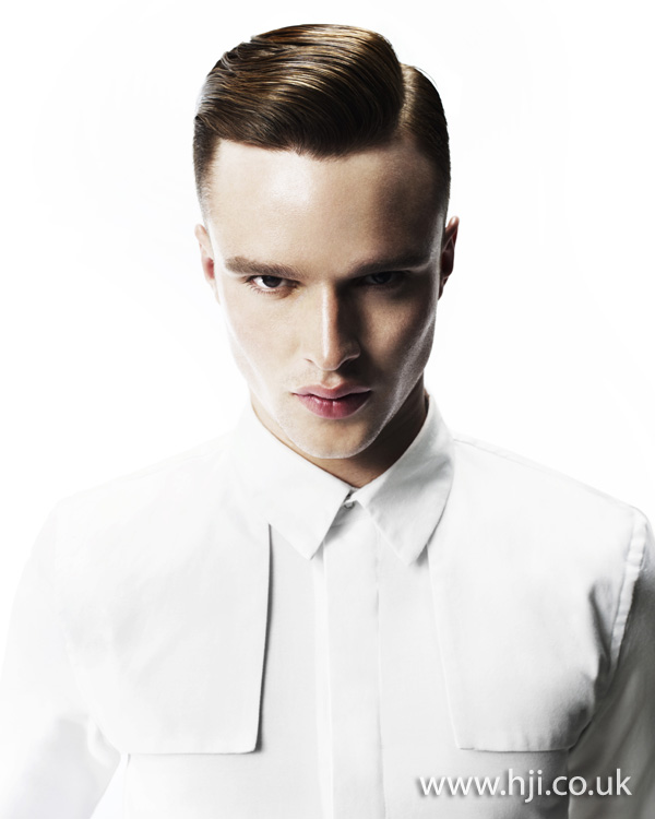 2012 mens side parting hairstyle