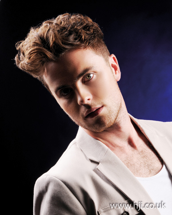 mens textured hairstyle from 2012