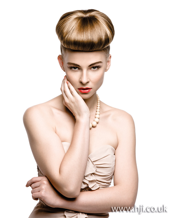 2012 oversized top knot updo womens hairstyle