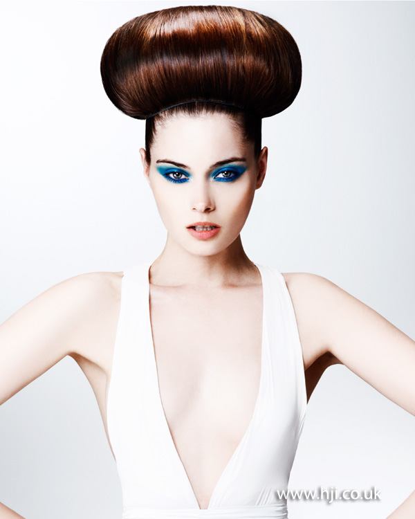 2012 oversized topknot bun womens hairstyle