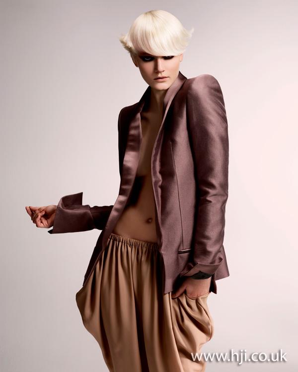 2012 platinum blonde fringe womens hairstyle