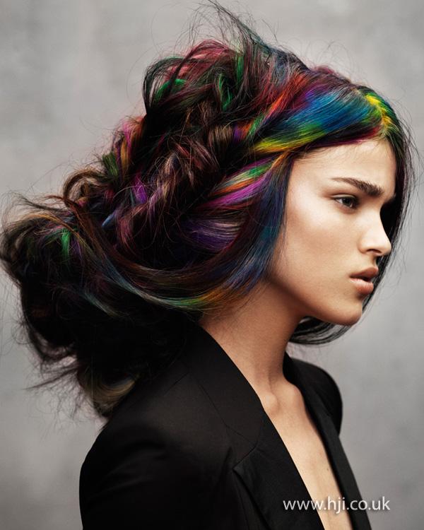 2012 rainbow dyed hair
