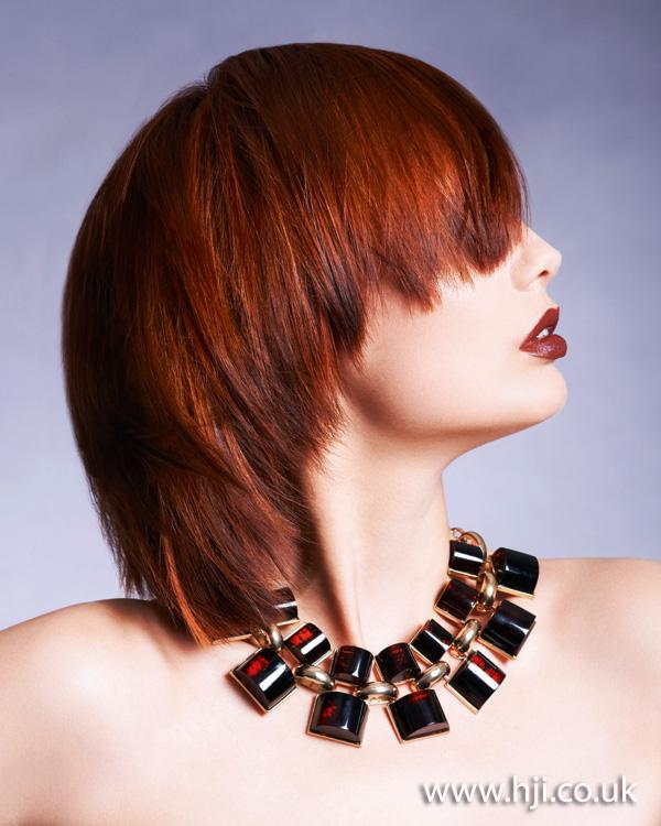 2012 red choppy short hairstyle