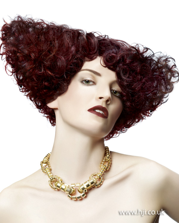2012 red curls womens hairstyle