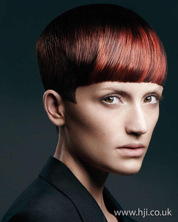 2012 red highlighted womens hairstyle