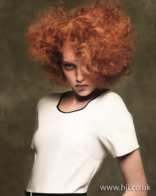 2012 red volumised textured womens hairstyle