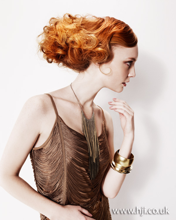 2012 redhead dramatic updo womens hairstyle
