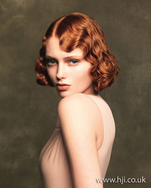 2012 redhead finger waves womens hairstyle