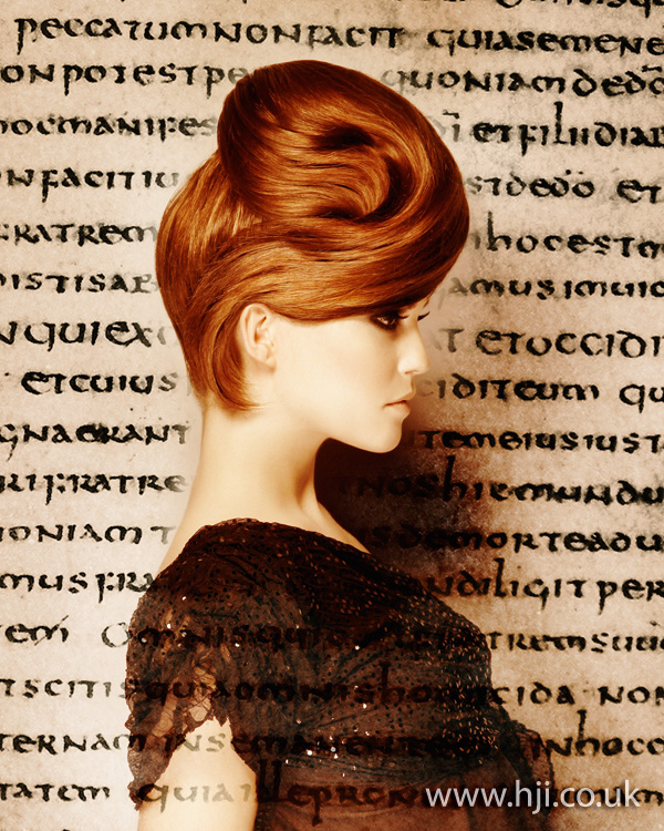 2012 redhead updo womens hairstyle