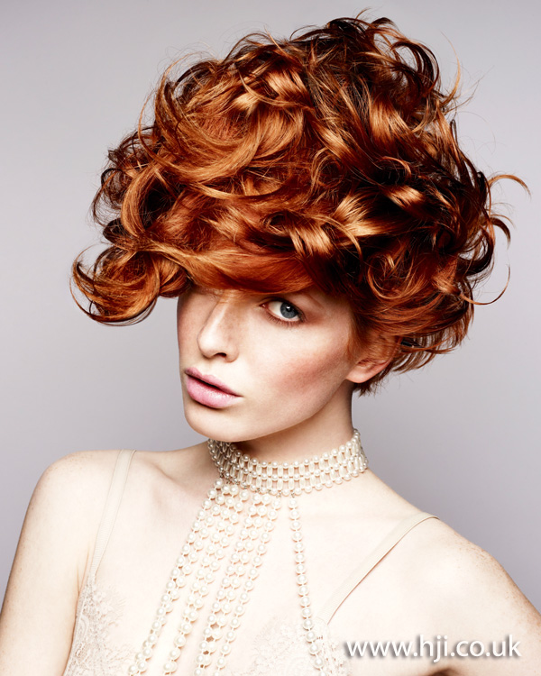 2012 redhead womens curly shiny hairstyle